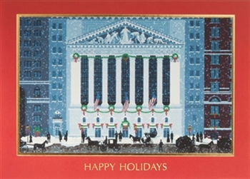 Americana Wall Street Holiday Season's Greeting Card