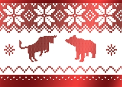 Red Foil Holiday Sweater Card