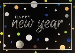 Happy New Year Dots Greeting Card