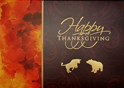 Thanksgiving Bull & Bear Card