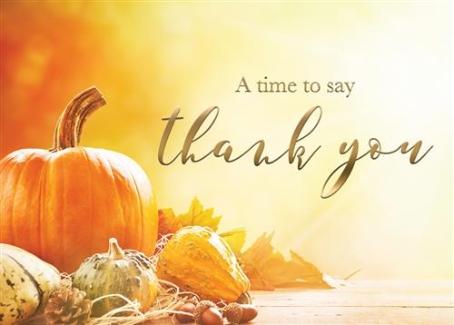 Pumpkin Thank You Card