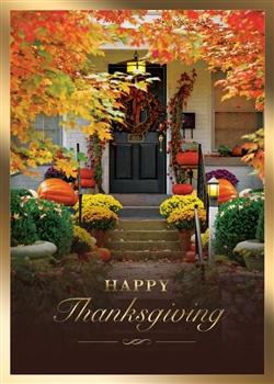 Autumn Home Thanksgiving Greeting Card