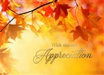 Fall Leaves Appreciation Thanksgiving - Greeting Card