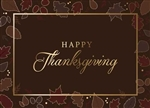 Fall Leaves Thanksgiving Greeting Card - PREMIUM