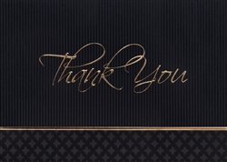 Gold and Black Thank You Card