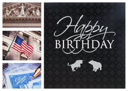 Wall Street Collage Birthday Card
