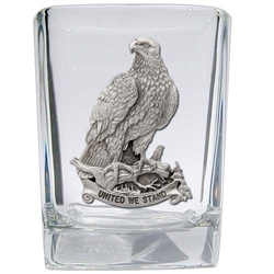 United We Stand - Bald Eagle Shot Glasses - Set of 2  MADE in the USA