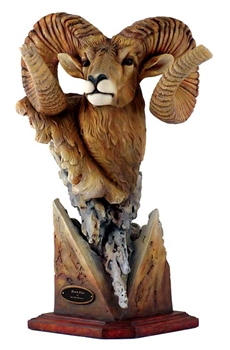 Bighorn Sheep Sculpture - Fortitude