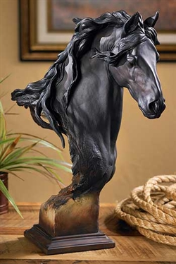 Friesian Horse Bust Sculpture - Equss Large