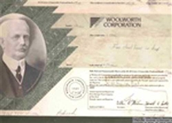 Woolworth Corporation Stock Certificate Mock-up