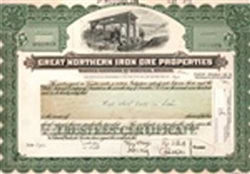 Great Northern Iron Ore Properties Stock Certificate Mock-up
