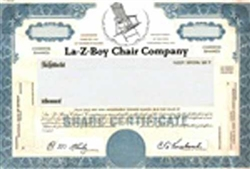 La-Z-Boy Chair Company Stock Certificate Mock-up