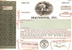Diagnostek, Inc. Stock Certificate Mock-up