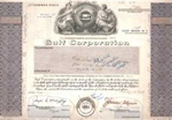 Gulf Corporation Stock Certificate Mock-up
