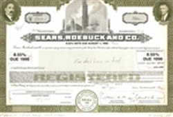 Sears, Roebuck and Co. Stock Certificate Mock-up
