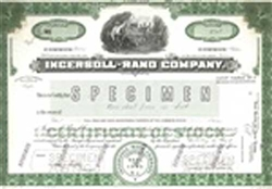 Ingersoll-Rand Company Stock Certificate Mock-up