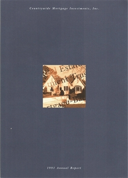 1991 Countrywide Mortgage Inv. Annual Report