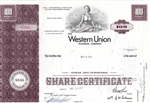 Western Union Corp Preferred Stock Certificate - Purple