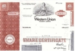 Western Union Corp Preferred Stock Certificate - Red
