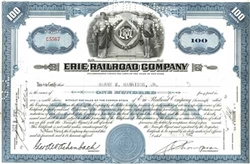 Erie Railroad Company Stock Certificate