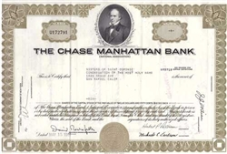 Chase Manhattan Bank Stock Certificate