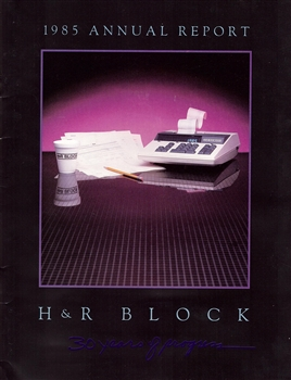 1985 H & R Block Annual Report