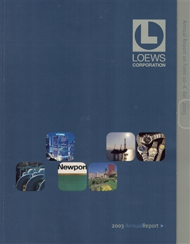 2003 Loews Corporation Annual Report