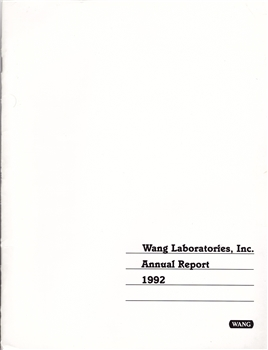 1992 Wang Laboratories Inc. Annual Report