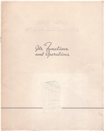 "1936 NYSE ""It's Functions and Operations"" booklet"