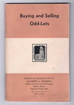 Buying and Selling Odd-Lots - 1933