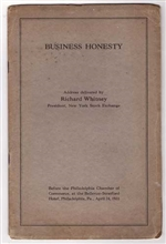 Business Honesty - Richard Whitney NYSE 1931