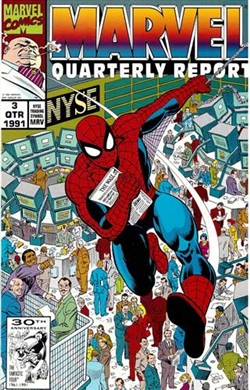 Spider-Man at the NYSE - 1991 Marvel Quarterly Report