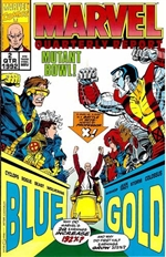 Marvel Quarterly Report - X-Men Mutant Bowl Cover 1992