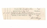 1791 U.S. Treasury-Office General Assembly Receipt