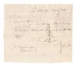 1781 Revolutionary War Pay Table Note