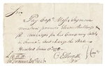 1778 Note to Captain Moses Seymour signed by Chief Justice Oliver Ellsworth