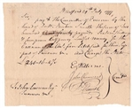 1777 Pay Table Note signed by Chief Justice Oliver Ellsworth
