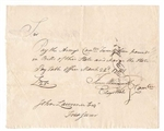 1781 Note for Purchase of Continental Army - Revolutionary War