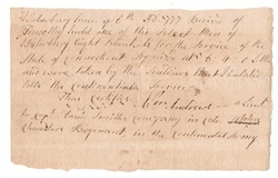 1777 Receipt for Blankets to the Continental Army
