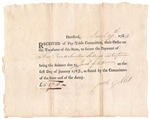 1784 Pay Table Note signed by Jacob Gillet
