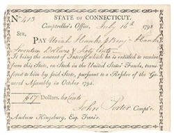 1798 Note Signed by John Porter