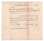 1784 Pay-Table Notes for Continental Army Service Signed by Eleazer Wales