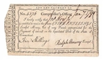1791 Note Signed by Ralph Pomeroy