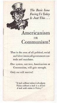 Americanism or Communism! by E.F. Hutton - 1950s