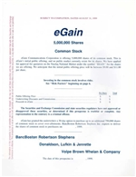 eGain Communication IPO Prospectus - 1999