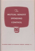 The Mutual Benefit Spending Control Booklet - 1950s