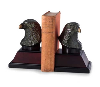 Bronzed Brass Eagle Bookends
