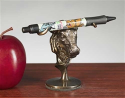 Stock Market Bull Pen Holder Desk Statue