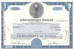 Schlumberger Limited Stock Certificate