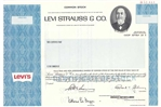 Levi Strauss & Co Specimen Stock Certificate